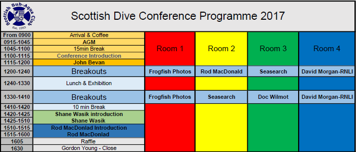 2017 Scottish Dive Conference Programme