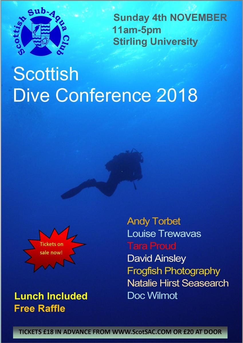 2018 Scottish Dive Conference Poster